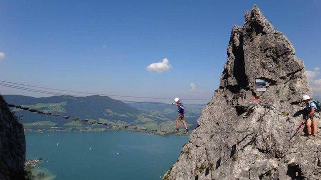 Klettersteigtraining am Drachenwandsteig