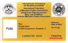 Ausweis -IVBV Canyonigführer